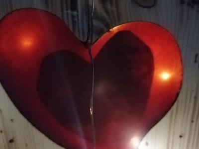 Herz aus Epoxidharz